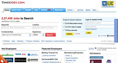 Timesjobs Resume by 14 Top Indian Bloghug