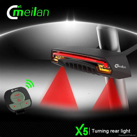 meilan x5 wireless remore turn signal bike rear light laser lights china manufacturer