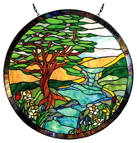 currey and company paul sahlin 1305r landscape stained glass