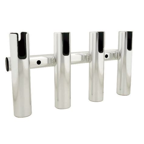 Metal Fishing Rod Holders For Boats by Taco 4 Rod Holder Rack Brushed Aluminum