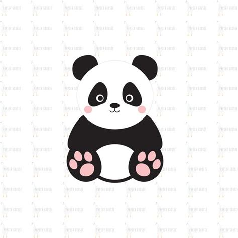 This pack contains the following digital file formats: Panda SVG Cute Panda SVG Baby Panda SVG Beautiful Panda | Etsy