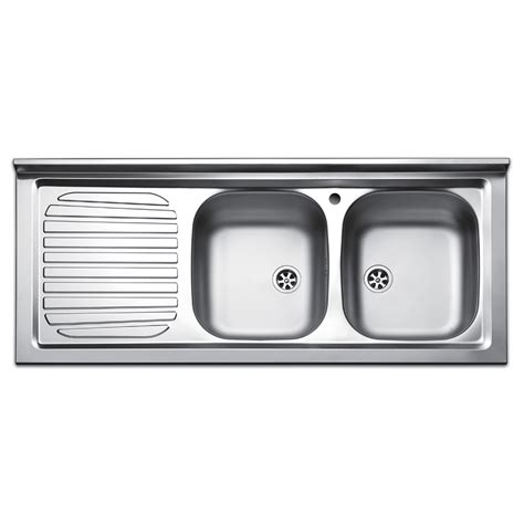 lavello a due vasche lavello da appoggio due vasche con gocciolatoio a sinistra