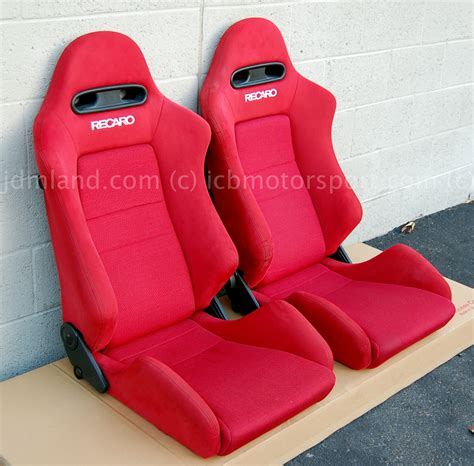 jdm integra dc red recaro seats mint condition sold