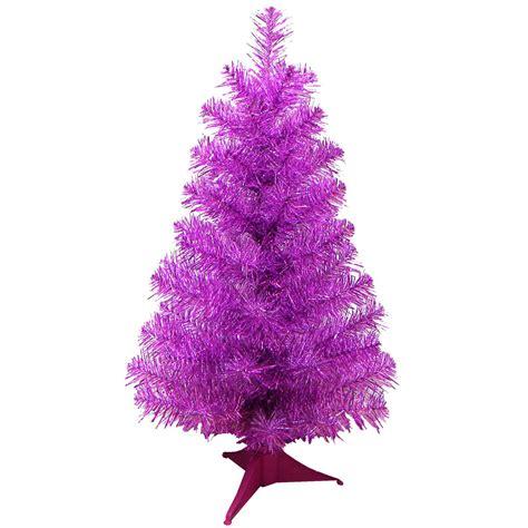 mini desk christmas tree 24 quot mini artificial tinsel desk top christmas tree pink