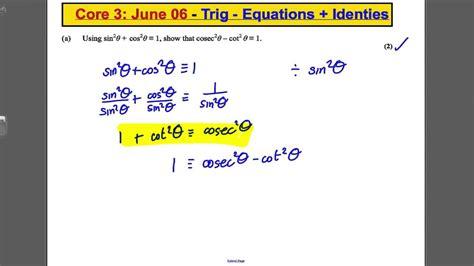 level maths edexcel core   paper question trig