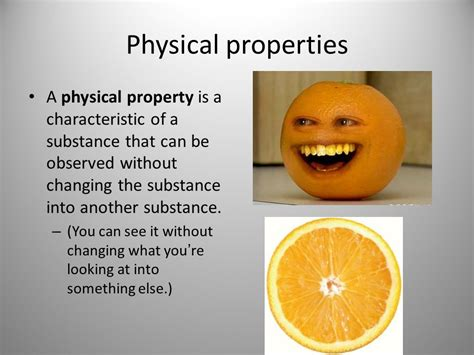the color of a substance is a physical property chemical and physical properties ppt
