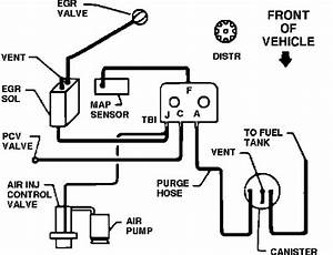 Vacuum Hose Diagram For Chevy Pickup 1991