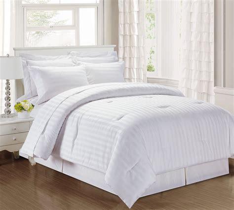 3 damask stripe 500 thread count cotton comforter set black ebay - Comforter Sets Cotton