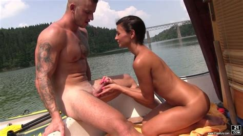 Cute Skinny Brunette Adela Is Having Outdoor Sex With One