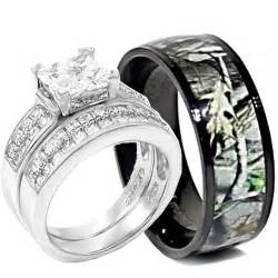 wedding rings sets his and hers camo silver wedding ring set his and hers sang maestro