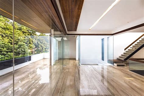 interior glass walls for homes a sleek modern home with indian sensibilities and an