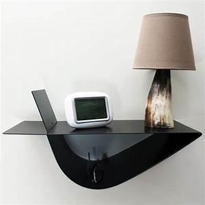 table de chevet suspendue design noire table de nuit moderne With table de nuit moderne
