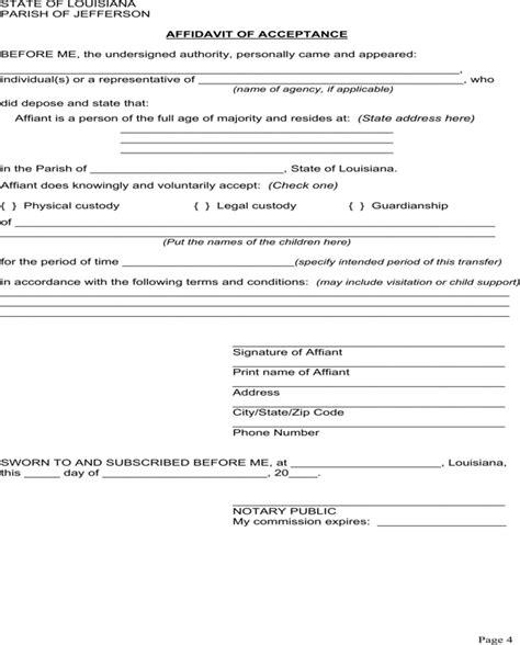 louisiana guardianship form   page