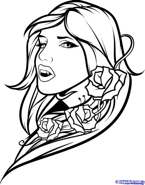 Vampire Girl?vm colouring pages | Vampire tattoo, Drawings, Butterfly outline