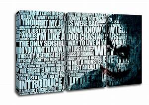 The joker funny world text quotes panel canvas