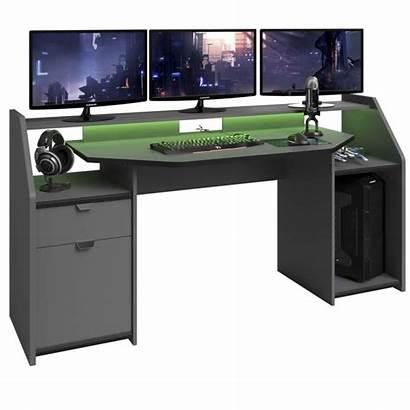 Desk Gaming Setup Workstation Parisot Console Pedestal