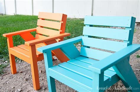 easy diy kids patio chairs  houseful  handmade