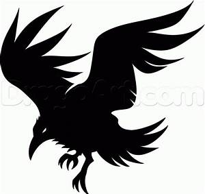 Outline Of Crow - Cliparts.co