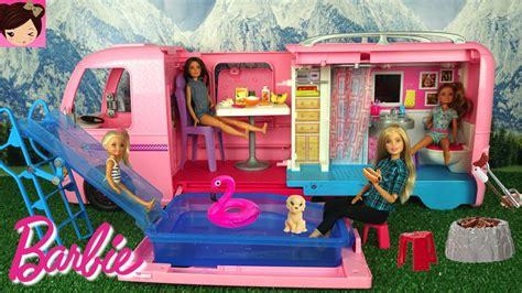 barbie camper toy  pool water  barbie chelsea