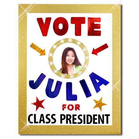Class President Poster Idea  Julia For President. Unique Medical Resume Template. Certificate Of Appreciation Template Free. Merry Christmas Pinterest. Budget Template In Excel