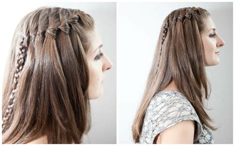 Waterfall Braid Tutorial For Travelers Without A Flatiron