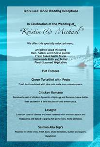 wedding menus weddings banquets