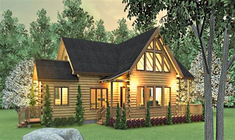 Ranch Style Log Homes Floor Plans