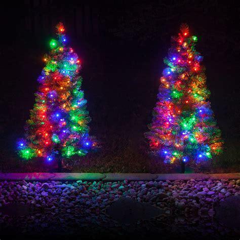 outdoor decorations  walkway pre lit winchester fir
