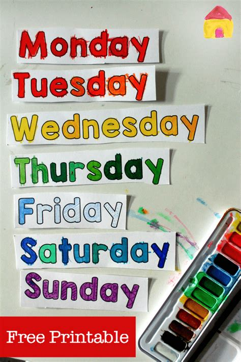 days   week printable spinner nurturestore