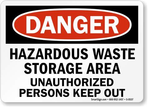 Hazardous Waste Storage Signs Mysafetysigncom