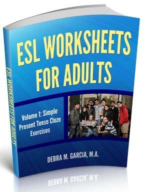 esl present tense verb worksheets