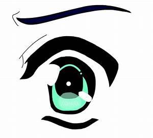 Scared Anime Eye by MegaOtakuGirl