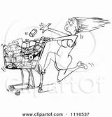 Rushed Grocery Cart Tossing Clipart Illustration Woman Into Royalty Vector Holmes Dennis Designs Regarding Notes sketch template