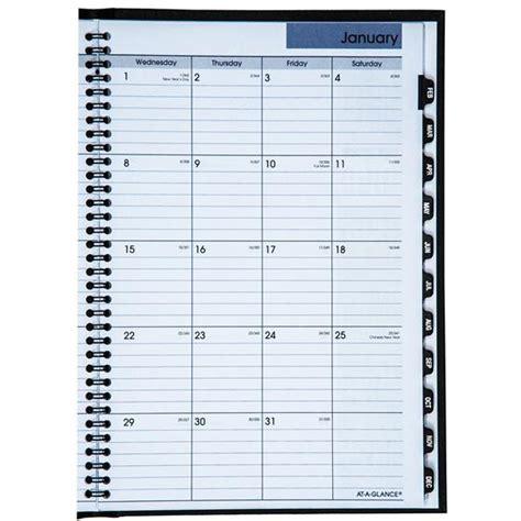 glance dayminder gh monthly planner hardcover