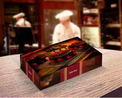 Mockup Bakery Box Packaging Psd Package Designs