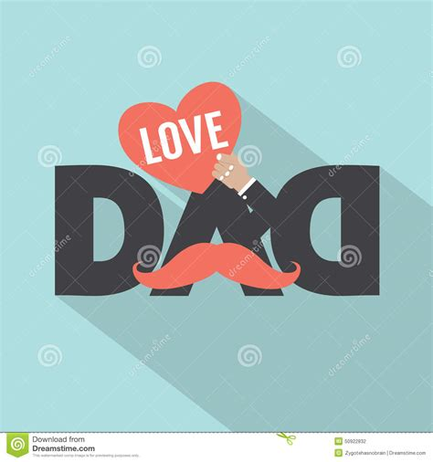love dad typography design stock vector image 50922832