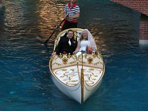 15 of the craziest ways to get married in vegas neon for Gondola wedding las vegas