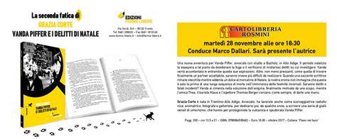 Libreria Rosmini by 28 11 2017 Vanda Piffer E I Delitti Di Natale Libreria