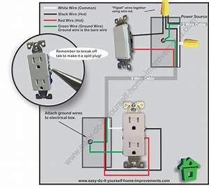 Light Switched Outlet Wiring Diagram