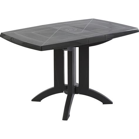 table et chaise de jardin carrefour table de jardin grosfillex véga rectangulaire anthracite 4