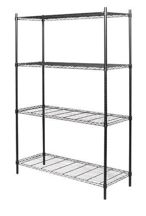 shelf black wire shelving unit  menards