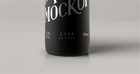 psd red wine dark bottle mockup psd mock  templates