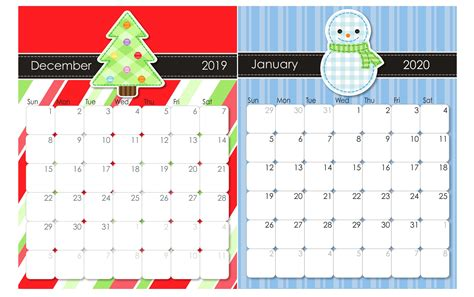 calendar december  january  template net