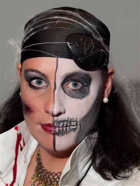 skelett schminken frau two faces schminkanleitung 187 halb sch 246 n gruselig selber machen