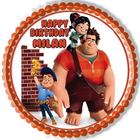 wreck it ralph cake toppers wreck it ralph edible cake topper cupcake toppers