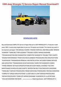 1999 Jeep Wrangler Tj Service Repair Manual D By