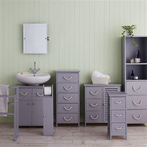 estilo nautical grey bathroom storage unit  drawer