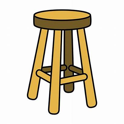 Stool Chair Furniture Illustration Seating Vector Clipart