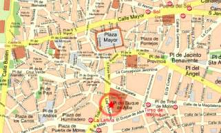 La Latina Madrid Map