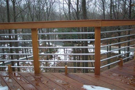 mahogany deck pipe rail in stamford ct contemporary